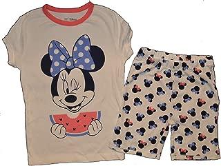 Kids Disney Minnie Mouse Watermelon Shorts Pajamas 10