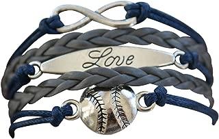 Infinity Collection Baseball Bracelet or Softball Bracelet - Baseball Jewelry for Females- Perfect Baseball Gift