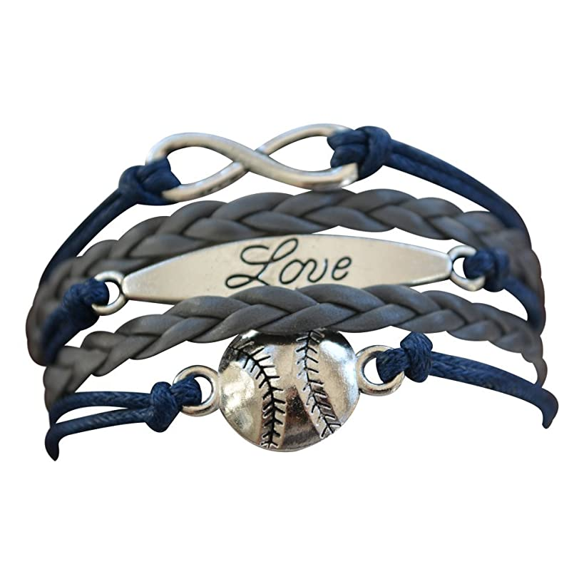 Infinity Collection Baseball Bracelet or Softball Bracelet - Baseball Jewelry for Females- Perfect Baseball Gift