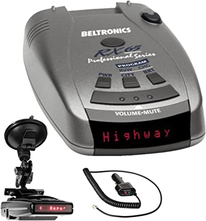 Beltronics RX65 Red Professional Series Radar/Laser Detector with RadarMount Suction Mount Bracket For Radar