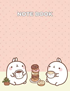 Notebook Molang coffee Composition Notebook- 110 Pages- Large 8,5 x11 Paperback