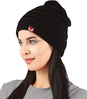 Ousus Trendy Warm Soft Stretch Cable Knit Beanie for Men and Women