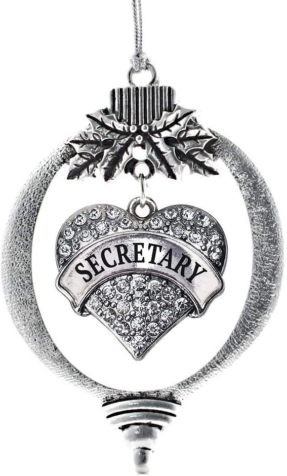 Inspired Silver - Secretary Charm Pave C Sales results Sales for sale No. 1 Heart Ornament