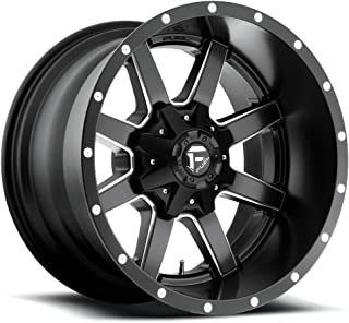 FUEL Off-Road Wheels: Maverick (D538) - Matte Black Milled; 17x10 Wheel Size, 6x135 / 6x139.7 Lug Pattern. 106.4mm Hub Bore, 24mm Off Set.