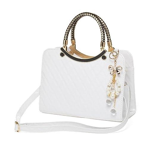 04f57964af301 Littleduckling Women Handbag Large Bag Retro Handbags Casual Fashion Female  Shoulder Bag Messenger Bag, Ivory