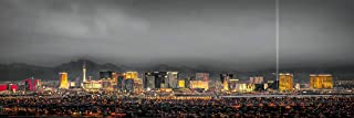 Las Vegas Skyline PHOTO PRINT UNFRAMED DUSK Color ART City Downtown 11.75 inches x 36 inches Photographic Panorama Poster Picture Standard Size