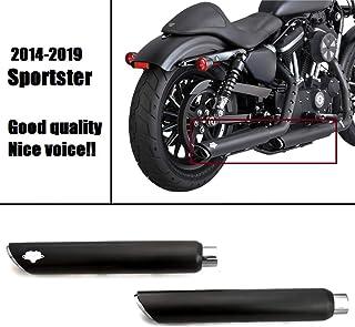 Syst/èmes d/échappement slash cut 3/Chrome pour Harley Davidson Sportster /à partir de 2004//à 2013/pour Harley Davidson Sportster /à partir de 2004//à 2013/vendues en couple