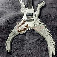 ノーブランドカスタムギター エンジェルウィング エレキギター 本体のみ ホワイト 天使