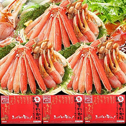 [Amazon限定ブランド] お刺身OK カット済み生本ずわい蟹 (メガ盛 1.8kg(総重量2.4kg)) かに カニ 蟹 カニ鍋 約6人前 ますよね印