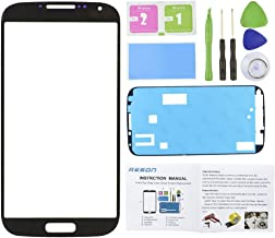 Reson® Black Front Replacement Screen Glass Lens for Samsung Galaxy S4 SIV I9500 I337 L720 M919 I545+tools Kit+dry/wet/dust Cleaning Paper+adhesive Sticker Tape