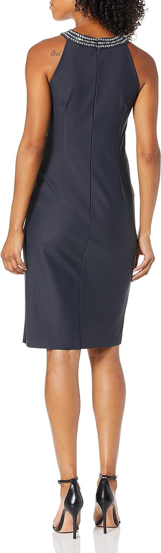 Alex Evenings Women's Short Sheath Slimming Stretch Halter Neck Dress