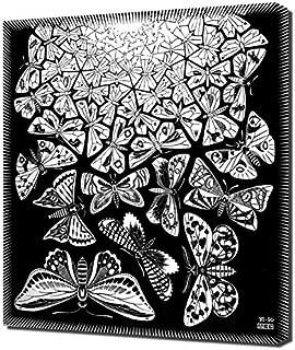 M.C. Escher - Butterflies Framed Canvas Art Print Reproduction