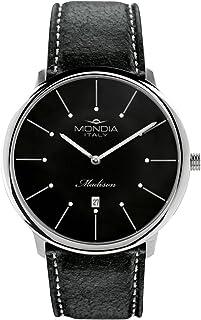 Mondia Italy Madisson Mens Analog Japanese Quartz Watch with Leather Bracelet MI752-3CP