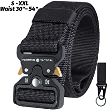 Fairwin Tactical Belt, Military Utility Belt Nylon Web Rigger Belt with Heavy-Duty Quick-Release Metal Buckle for Men Women