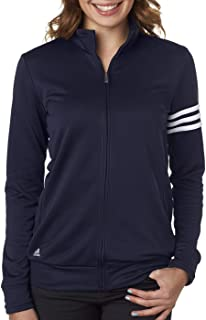 adidas Womens Climalite 3-Stripes Pullover A191 -Navy/White M