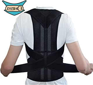 Posture Corrector, Back Support Brace Waist Support Belt, Bone Injury Correction Straighten Upper Back Slouching Corrective for Men or Women Muscle Compression Brace (M)