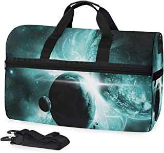 Gym Yoga Bag Outer Space Wonders Large Travel Overnight Luggage Foldable Duffle Bag for Women Men