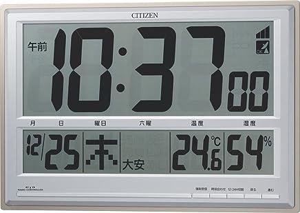 CITIZEN (シチズン) 電波 置き ・ 掛け時計 パルデジットペール 大型表示 8RZ111-019