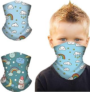 Cosrea 2 pcs Kids Bandanas Neck Gaiter,UV Protectio Neck Gaiter Headband for Outdoors Fishing Sports Fashion Scarf Balaclava