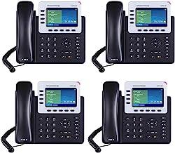 Grandstream GXP2140 4-Line IP Phone, 4.3 LCD, PoE, Bluetooth. Bundle of 4 photo