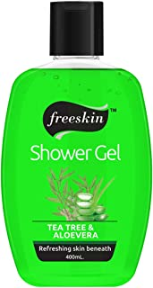 Freeskin Tea Tree & Aloe Vera Body Wash Shower Gel 400ml, its a Miracle Cure for Redness and Inflammation on Skin, Suitabl...