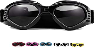 Vevins Dog Goggles Sunglasses UV Protective Foldable Pet Sunglasses Adjustable Waterproof Eyewear for Cat Dog