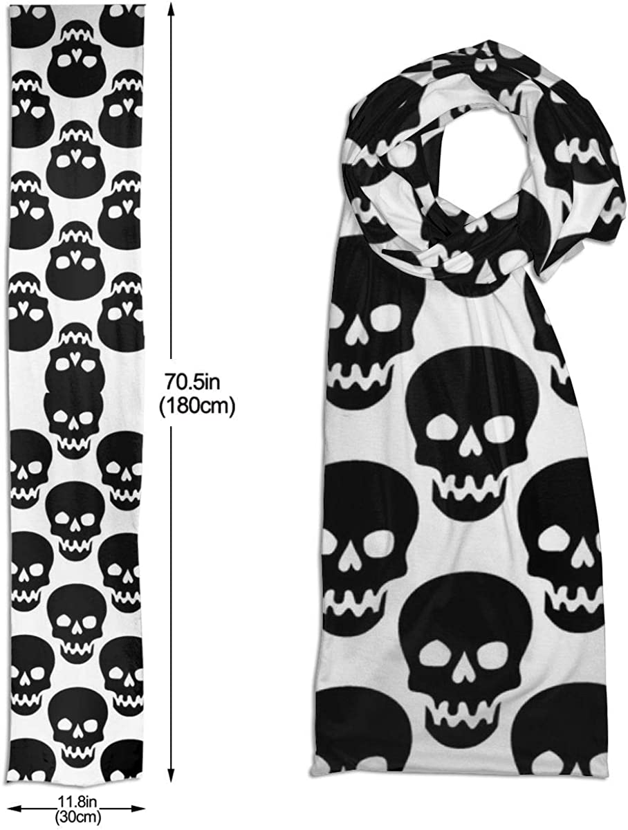 Luxurious Winter Scarf Premium Soft Feel Unique Design Selection(Black White Alphabets Numbers Type)