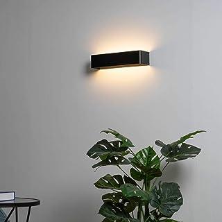KOSILUM - Applique Quadra noire LED 18W - 53 cm - Lumière Blanc Chaud Eclairage Salon Chambre Cuisine Couloir - 18W - 1620...