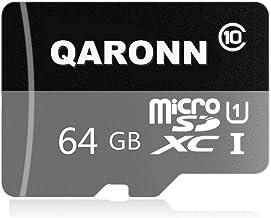 QARONN 64GB Micro SDXC Card High Speed Class 10 SD Memory Card Flash Card with SD Adapter