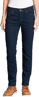 Eddie Bauer StayShape Slim Straight Jeans-Fleecegefüttert Vaqueros Mujer
