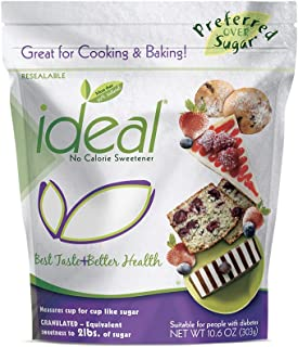 Ideal No Calorie Xylitol Sweetener: Natural, Non GMO, Keto Friendly, Bulk Granulated Sugar Substitute and Alternative, 10.6 Ounce Pouch