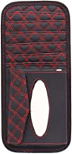 uxcell Black Red Weave Design Sun Visor CD Holder Napkin Organizer 33 x 15.5 x 2.8cm for Car