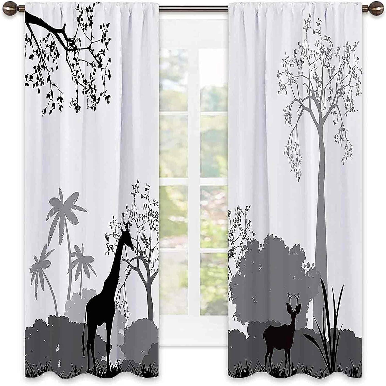 Apartment Decor Collection Sacramento Mall Heat Curtain Silhouette Insulation trend rank o
