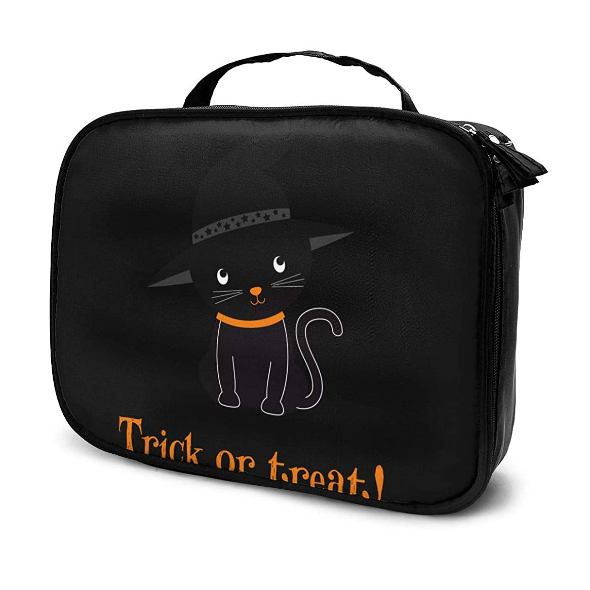必要ない支配的狼化粧品収納バッグ ねこ ハロウィン 収納ポーチ 収納袋 化粧ポーチ 旅行の収納 化粧品袋 ウォッシュバッグ 多機能 旅行用品 おしゃれな 男女兼用