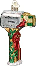 Old World Christmas Ornaments: Welcome Home Mailbox Glass Blown Ornaments for Christmas Tree