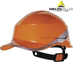 Venitex Delta Plus Diamond V Baseball Cap Style Safety Helmet Hard Hat Orange