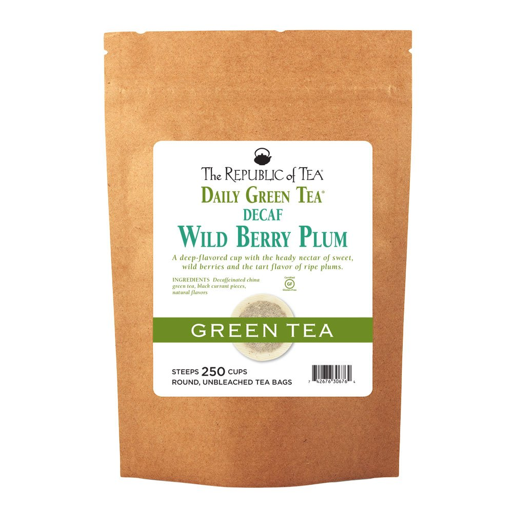 The Republic Of Tea Decaf Wild Bag Max 72% OFF Popular brand in the world Plum 250 Berry Green