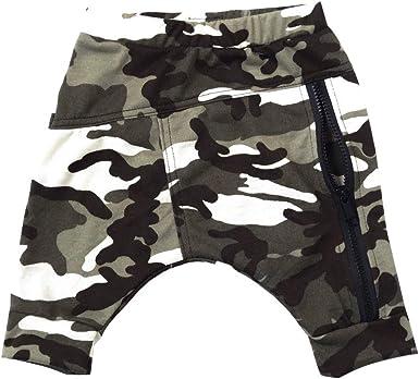 Julhold Pantalones Para Bebe Nino Moda Suelta Con Cremallera Para Camuflaje 0 4 Anos Amazon Es Ropa Y Accesorios