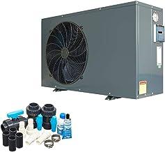 well2wellness Encendido/Apagado Piscina Bomba de Calor Mida.Quick 17 - Calentador Piscina con Un Heizkapazität hasta 15,8 Kw Plus Bypass Set Basic + Cubierta