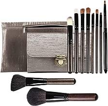 Goat Hair Makeup Brushes 10PCS Soft Professional Makeup Brush Set Foundation Blush Eye Shadow Makeup Brushes Two PU Cosmetic Bags JYNLU