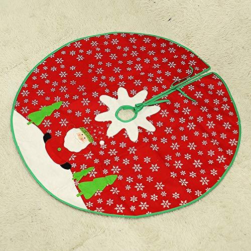 MYYXGS Weihnachtsbaum Rock Weihnachten Lieferungen Weihnachtsschmuck Schneeflocke Baum Rock Christbaumschmuck ZubehöR