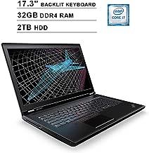 2019 Lenovo ThinkPad P71 17.3 Inch FHD 1080p Laptop (Intel 4-Core i7-7820HQ up to 3.90 GHz, 32GB DDR4 RAM, 2TB HDD, NVIDIA Quadro M620 2GB, Backlit KB, FP Reader, Windows 10 Pro)