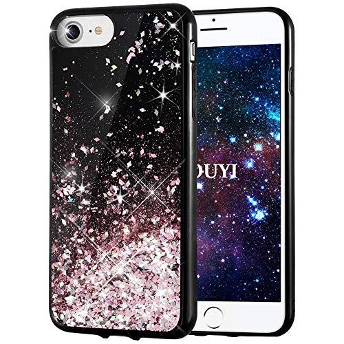 KOUYI Funda iPhone 8/7, Brillo Liquida 3D Bling Cubierta Flowing Liquid diseño...