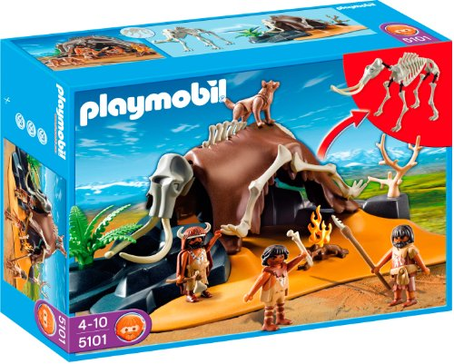 PLAYMOBIL - Esqueleto de mamut con Cazadores, Set de Juego (5101)