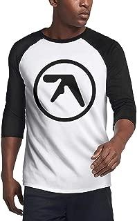 SUITPANRe Men's Casual 3/4 Sleeve Baseball Tshirt Rock Band Logo Plain Raglan Jersey Shirt