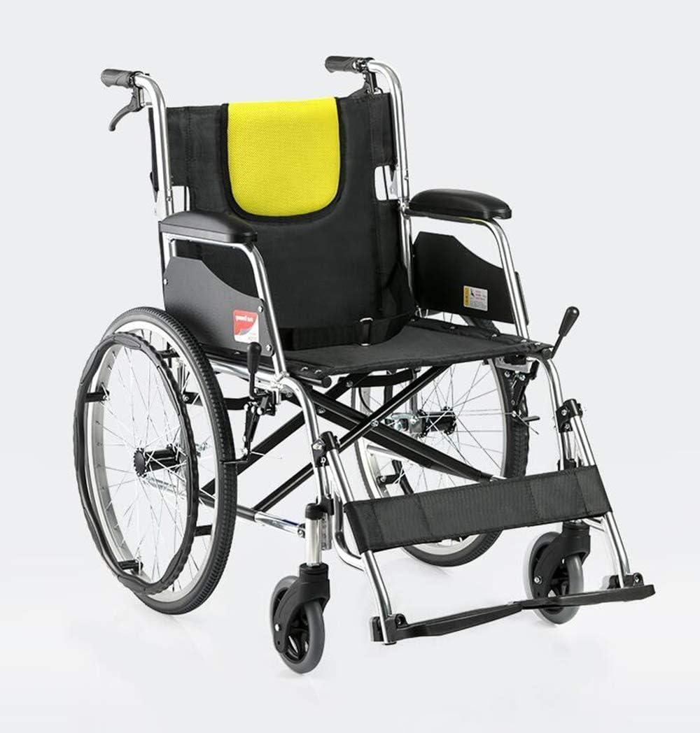 WEI-LUONG plegable Sillas de ruedas silla de ruedas plegable 12.5kg médico del transporte ergonómica avanzada Backs cómodas Piernas 100Kg soporte de cargas 44 × los 40Cm Anchura del asiento Fj Ligero