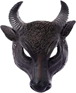 PKRISD Devil Ox Horn Head Party Mask Simulation Animal Mask 3D Model Cosplay Party Supplies