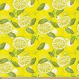 ABAKUHAUS Frühling Stoff als Meterware, Frische Zitronen