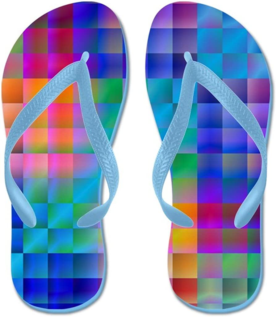 Lplpol 5 ☆ popular Rainbow Quilt Flip Flops wi Sandals S for Ranking TOP4 Kids