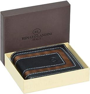 Renato Landini Black Leather For Men - Bifold Wallets